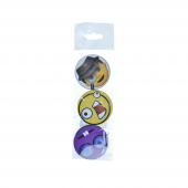 Dekoratif Smıle Ahşap Magnet 3lü Set
