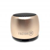 Factor M Mini Kablosuz Bluetooth Hoparlör Gold