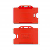 Mas 3520 Plastik Kart Muhafazası Yatay Kırmızı 50li