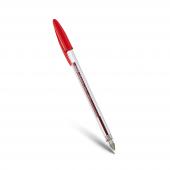 Mas 6324 Plastik Uçlu Tükenmez Kalem 1.0 Mm Kırmız...
