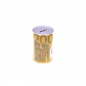 Nerox 200 Euro Desenli Küçük Metal Kumbara Nrx 1015