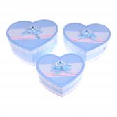 Nerox 3lü Mavi Ayı Kurdeleli Kalpli Hediye Kutusu Nrx 8072