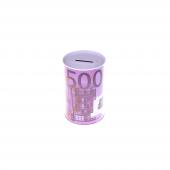 Nerox 500 Euro Desenli Küçük Metal Kumbara Nrx 1015