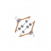 Nerox Ahşap Metal Tutacaklı Askı Nrx 8005