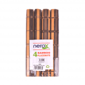 Nerox 4lü Kahverengi Sarı Bambu Servis Nrx 327