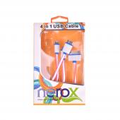Nerox Fuşya Çoklu Telefon Şarj Kablosu Nrx 5147