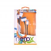 Nerox Siyah Çoklu Telefon Şarj Kablosu Nrx 5147