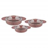 Remetta Granit Plus 6 Parça Omlet Takımı Kahverengi
