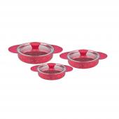 Remetta Granit Plus 6 Parça Omlet Takımı Kırmızı