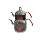 Remetta Mondo Aile Boyu Çaydanlık Takımı Kırmızı
