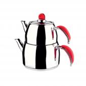 Remetta Sapore Maxi Boy Çaydanlık Takımı Kırmızı