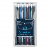 Schneıder One Hybrıd N İğne Uçlu Roller Kalem 0,5 Mm 4lü Set Scr
