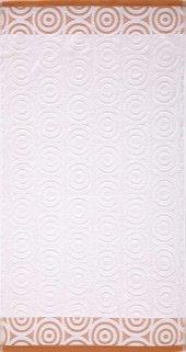 Maisonette Swirl Havlu 50x90 Cm Beyaz Turuncu