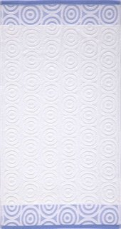 Maisonette Swirl Havlu 70x140 Cm Beyaz Mavi