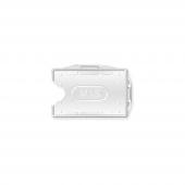 Mas 3524 Çift Yüzlü Plastik Kart Muhafazası Şeffaf 25li