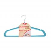 Nerox 4lü Turkuaz Kadife Askı Nrx 8015