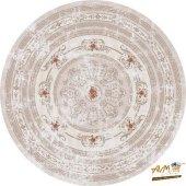 Brillant Latex Yıkanabilir Halı Yıldız Yuvarlak Hld11315.801 (Püsküllü) 150x150