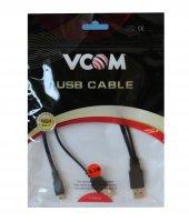 Vcom Usb 2.0 2 Mini Usb 5pin Black 0.3m