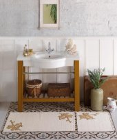 Soley Naturel İkili Banyo Paspası Serçe