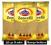 Zencefil Toz 25gr (3 Adet) Parmak Baharat