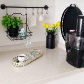 Siyah Mutfak Askısı Ve Sepeti Metal Askılı Ferforje Vip Sepet Ve Askı Seti Fintorp Model 20*20cm