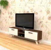 Mobaks Marin Tv Sehpası H.ceviz Parlak Beyaz