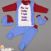 Gülücük Baby Fanatik Model 4 Parça Lüx Takım (Ts) 0 3 6 Ay