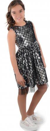Kız Çocuk Full Payetli Özel Butik Abiye Elbise