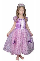 Kız Çocuk Prenses Sofia Kostüm Elbise Abiye Doğum Günü
