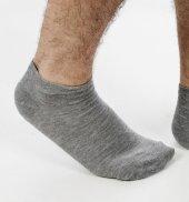 DeepSEA Gri Koyu Kısa Erkek Patik Çorap 1906764-2