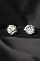 Deepsea Gümüş Üstü Taşlı Yuvarlak Kol Düğmesi 1901820