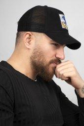 DeepSEA Siyah Çerçeveli Roud Runner Desen Ayarlanabilir Boyut Fileli Şapka 1908796-2