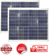 50 W Watt (2 Adet) Güneş Paneli Solar Panel