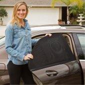 Elastik Oto Yan Cam Araba Bebek Güneşliği Perde Hatchback Uyumlu 2li
