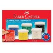 Faber Castell Parmak Boyası 25 Ml. 6 Renk...
