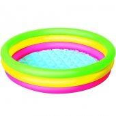 Renkli Şişme Çocuk Havuzu Yumuşak Tabanlı 102x25 Cm