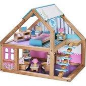 Mentari Ahşap Bebek Evi Mobilyalı