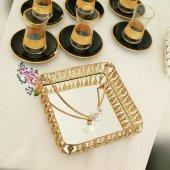 Masa Üstü Metal Peçetelik,gümüş Ve Altın Aynalı Ferforje Peçetelik,parti Masası,organizasyon,jardinyer