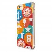 Apple iPhone 6 6s Kılıf Silikon Arka Koruma Kapak Yaz Desenli-2
