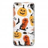 Apple iPhone 6 Plus Kılıf Silikon Arka Koruma Kapak Halloween Cad
