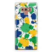 Samsung Galaxy Note 9 Kılıf Silikon Arka Koruma Kapak Sarı Yeşil