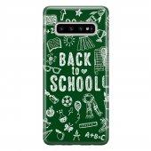 Samsung Galaxy S10 Plus Kılıf Silikon Arka Koruma Kapak Okula Dön