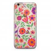 Apple İphone 6 6s Kılıf Silikon Arka Koruma Kapak Çiçeklerle Dese