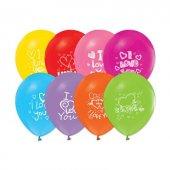 ı Love You Baskılı Balon 100 Adet