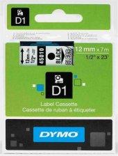 Dymo Şerit D1 12mm X 7mt Siyah Beyaz 720610...