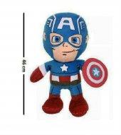 Hediyeli Lisanslı, Disney Marvel Avangers Peluş Kaptan Amerika Peluş Oyuncak, Kalkanı İle 46 Cm