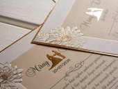 Kabartma Özel Kesimli Düğün Davetiyesi 100 Adet