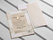 Kabartma Özel Kesimli Düğün Davetiyesi 100 Adet-2