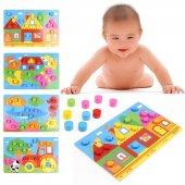 1 Adet Ahşap Eğitici Oyuncak Renk Eşleştirme Biliş Oyunu