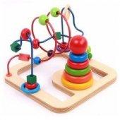 2si 1 Arada Set Boncuklu Tel Labirent Oyunu Helezon Oyunu Ve Tekli Kule Oyunu Ahşap Oyuncaklar